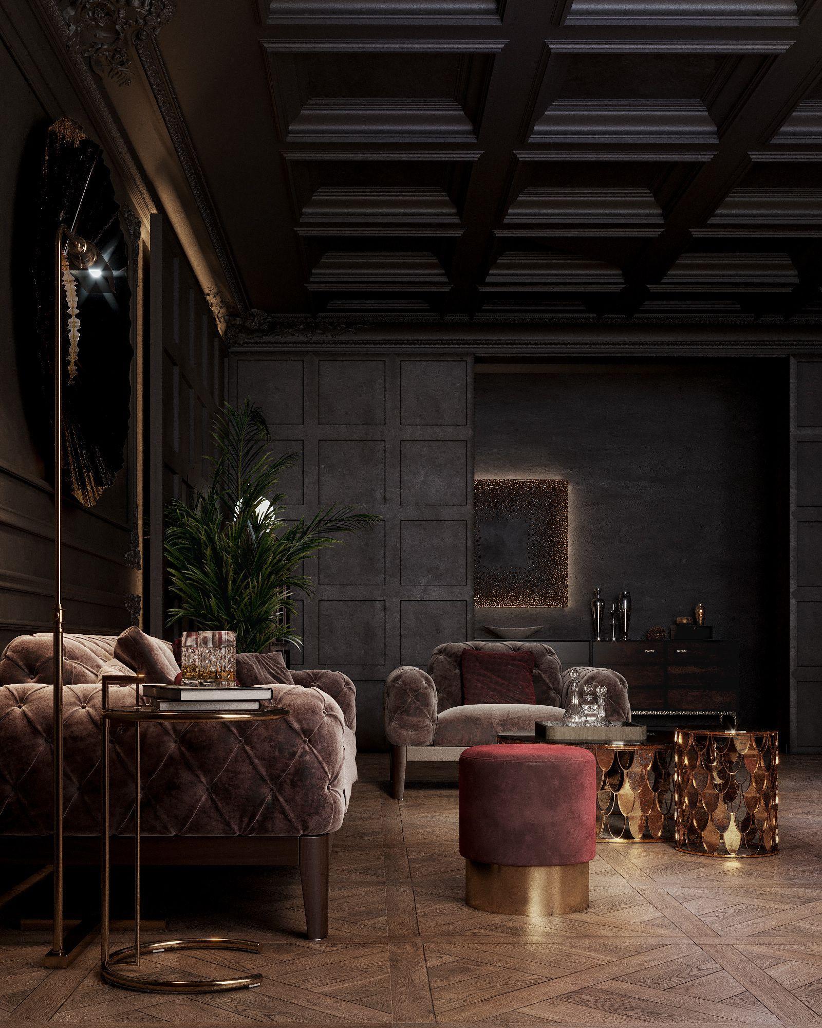 Classic Dark Apartment On Behance Dark Interior Design Luxury Home Decor Luxury Interior Design