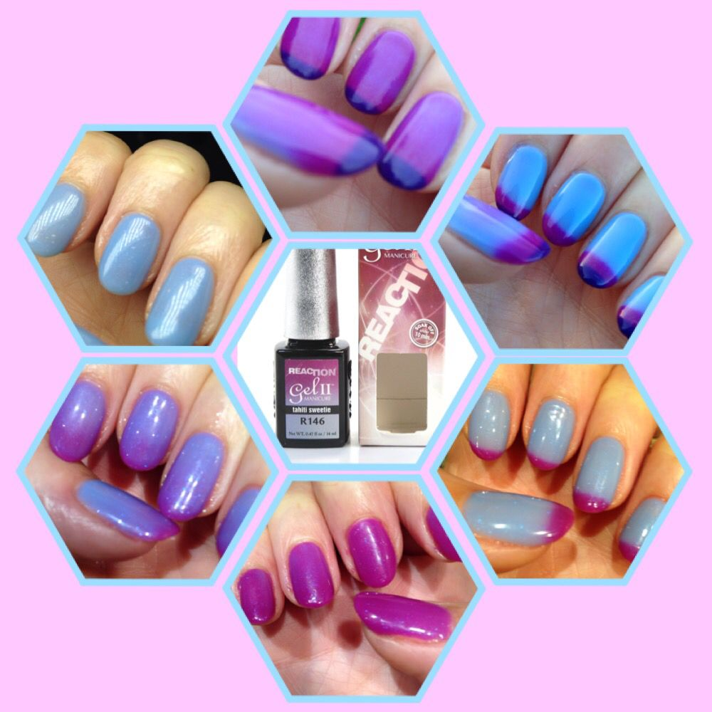 Gel ll Reaction Tahiti Sweetie colour changing nail polish. One ...