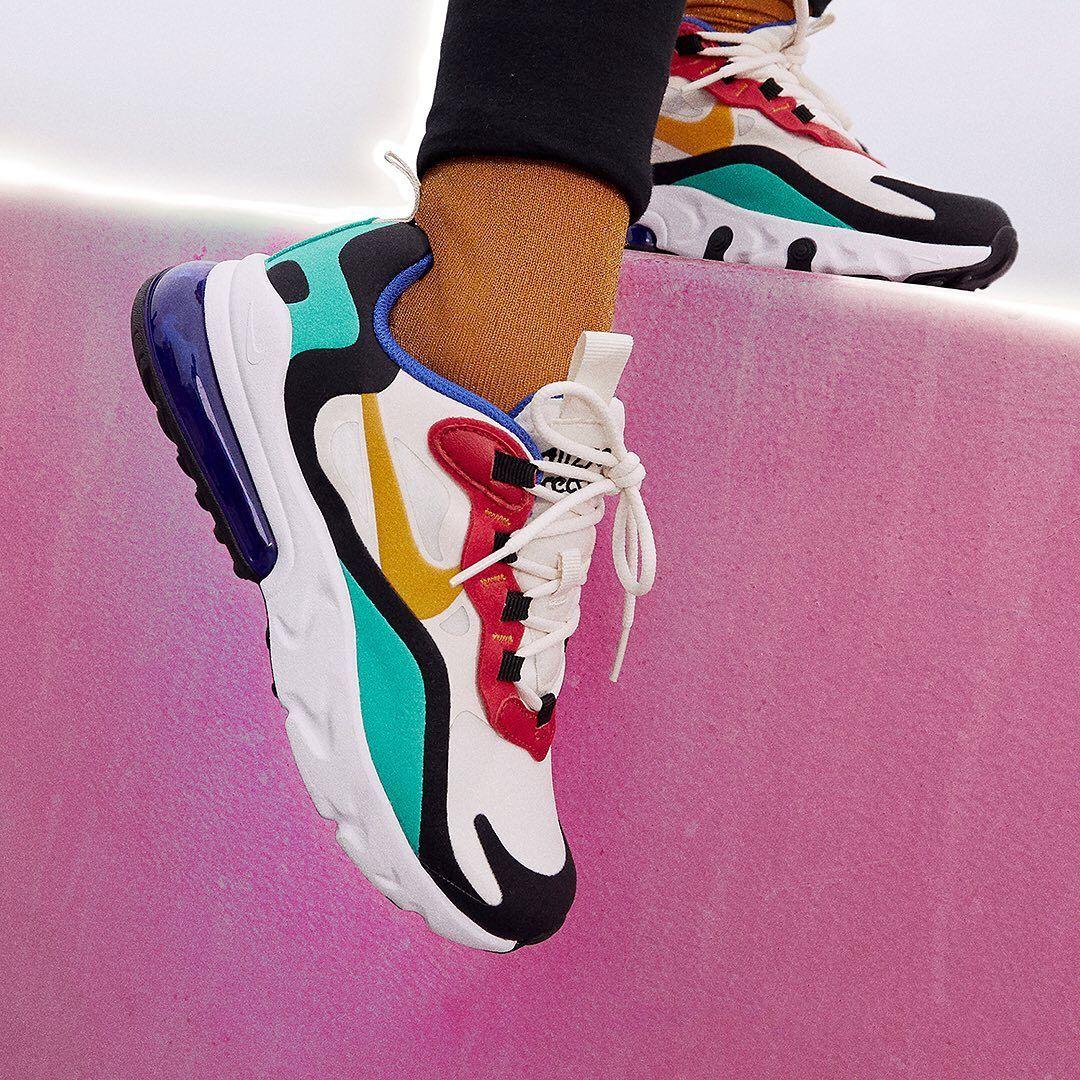 Nike Air Max 270 React Herren Frauenschuh Bunt Nike Schuhe Damen Nike Schuhe Nike Schuhe Frauen