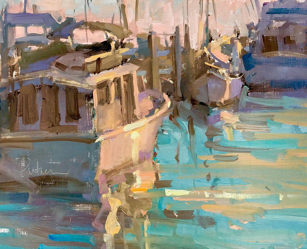Sunday Boat Fixers | Boat, Weston super mare, Plein air