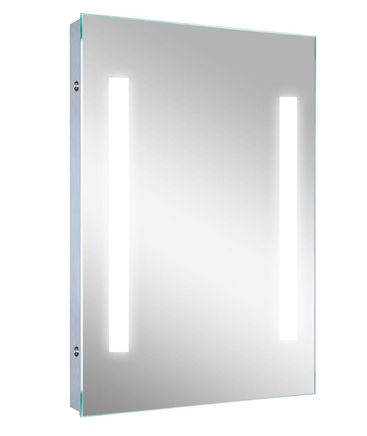 LED Striped Illuminated Mirror. Dimensions: 24\