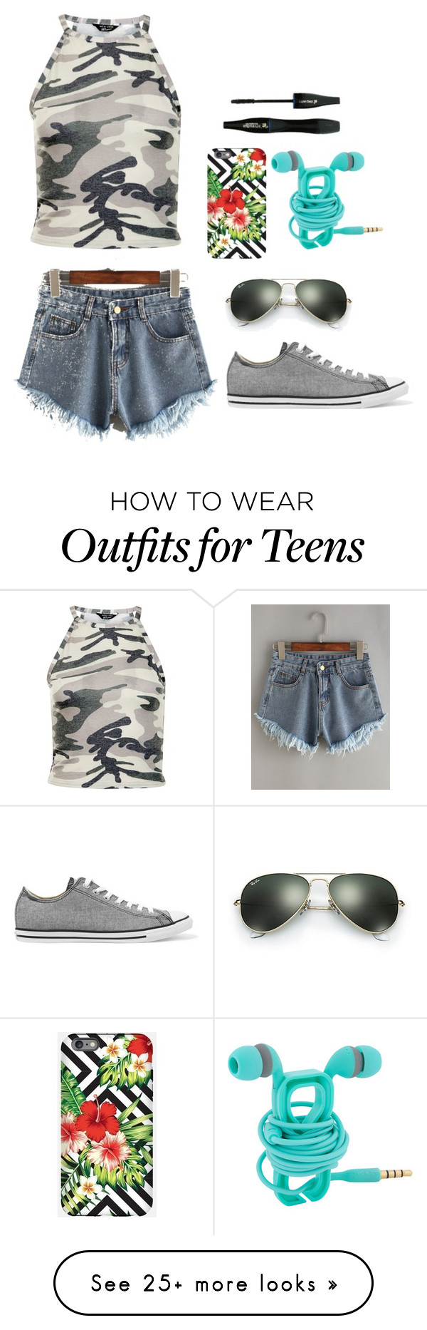 """""""Some people just need to stop"""" by clairebear89 on Polyvore featuring New Look, Converse, Ray-Ban and Lancôme"""
