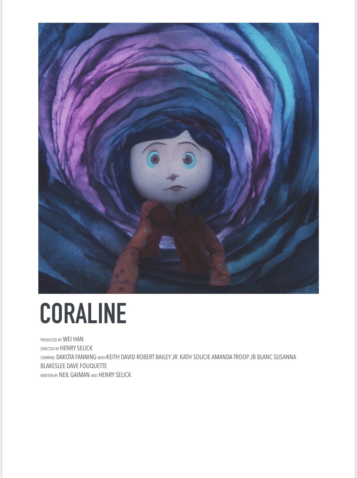 Coraline in 2020 movie poster wall iconic movie posters