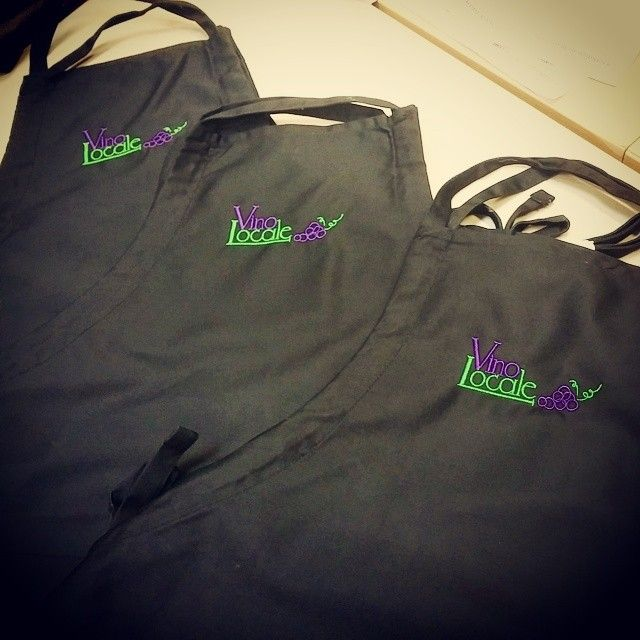 Wearing a custom embroidered apron is an easy way to stay clean and showcase your brand's style!