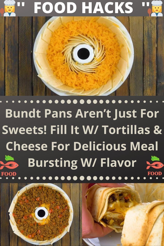 Bundt Pans Aren't Just For Sweets! Fill It W/ Tort