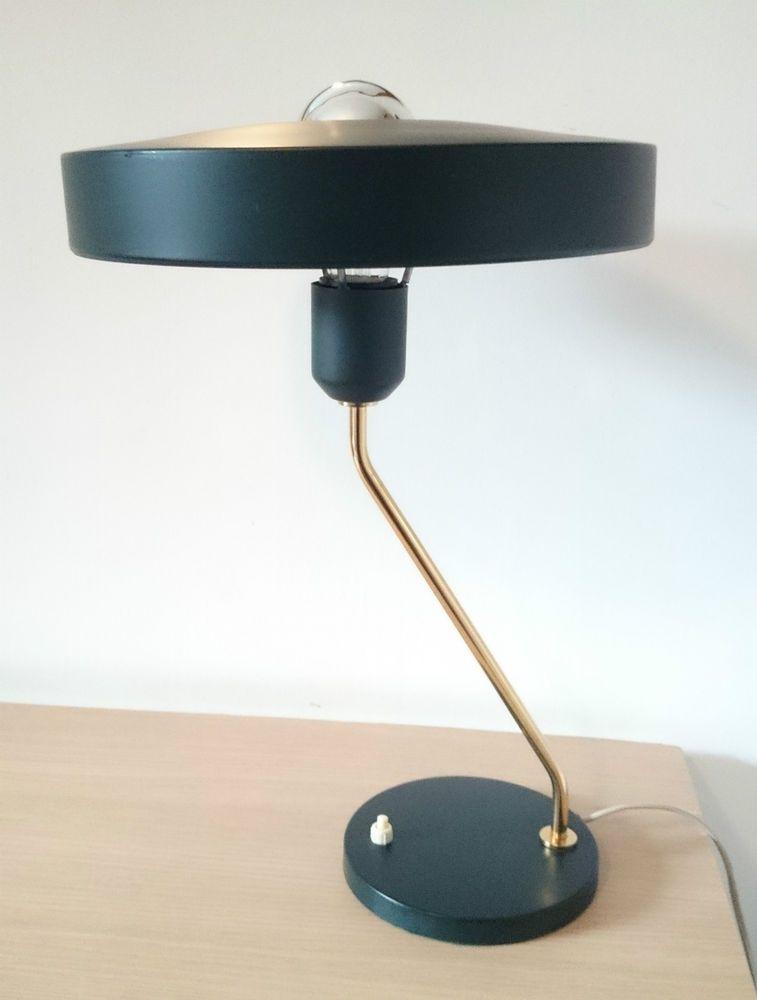 Louis Kalff Lamp.1950s Vintage Philips Green Desk Lamp By Louis Kalff Eames