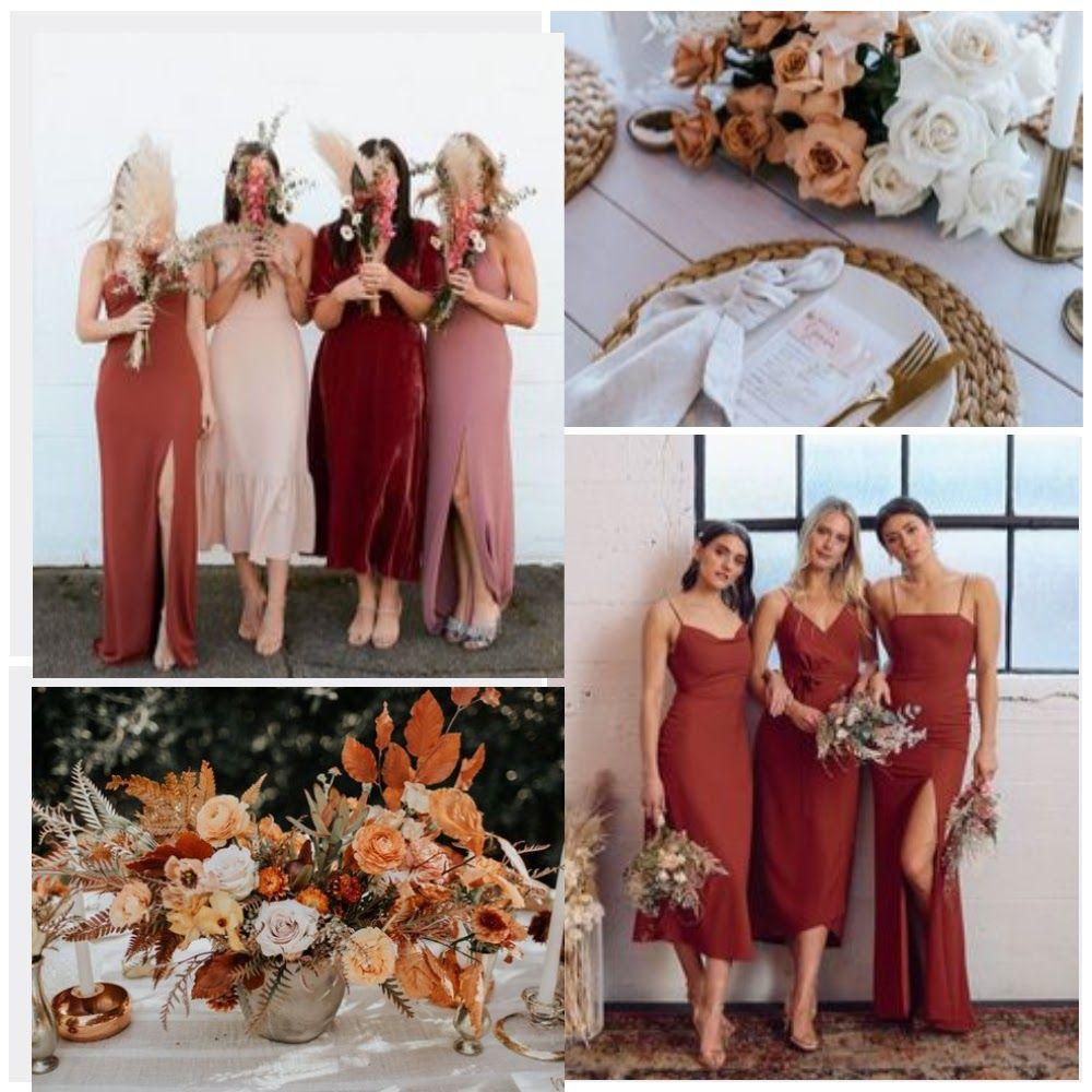 Terracotta Rustic Bridesmaid Dresses Orange Bridesmaid Dresses Wedding Bridesmaid Dresses [ 1000 x 1000 Pixel ]