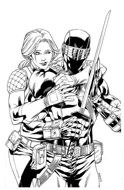 Snake Eyes Scarlett By Robert Atkins Snake Eyes Gi Joe Snake Eyes Eye Coloring Book