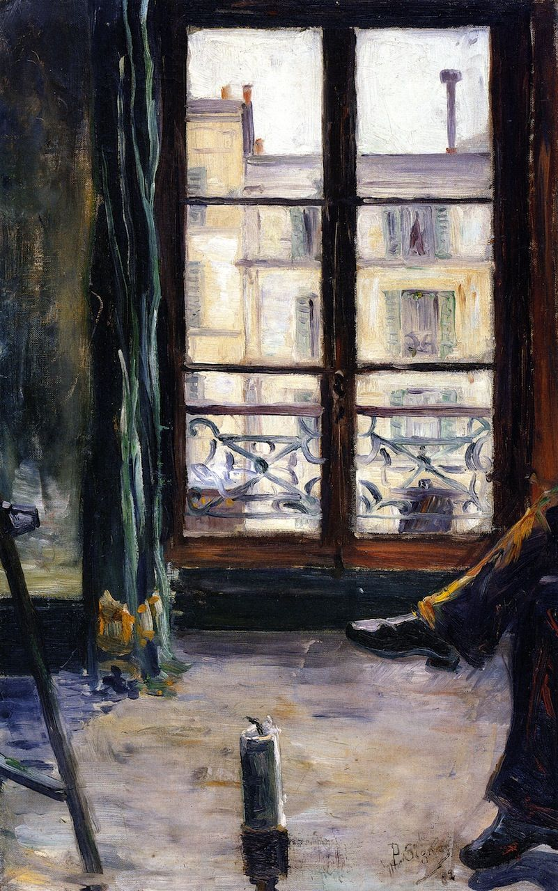 Paul signac etude de montmartre studio 1883 huile sur for Toile de fenetre