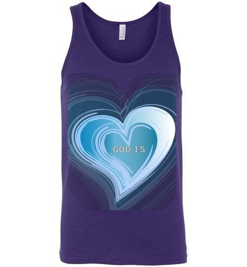 God is Love (blue) - Unisex Tank