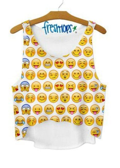 Emoji crop top   omg!