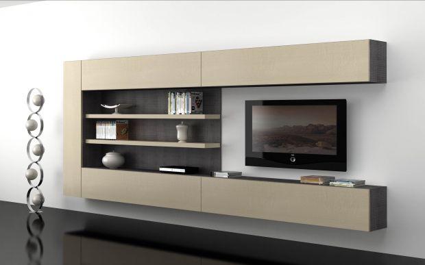 Salones mueble sal n colgado con m dulos contenedores ref sal24 mobelinde muebles a medida - Fabrica muebles barcelona ...