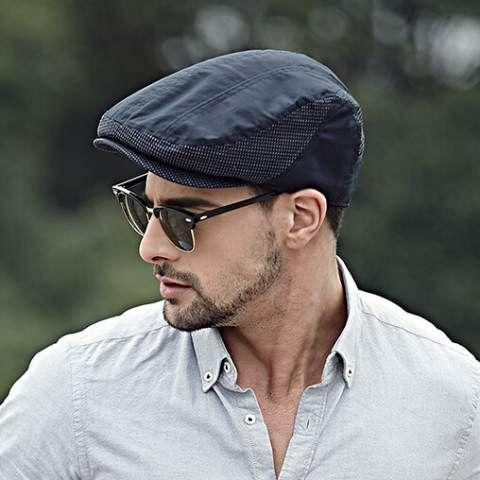 Mens flat cap casual British style autumn hats  1d50daba41e
