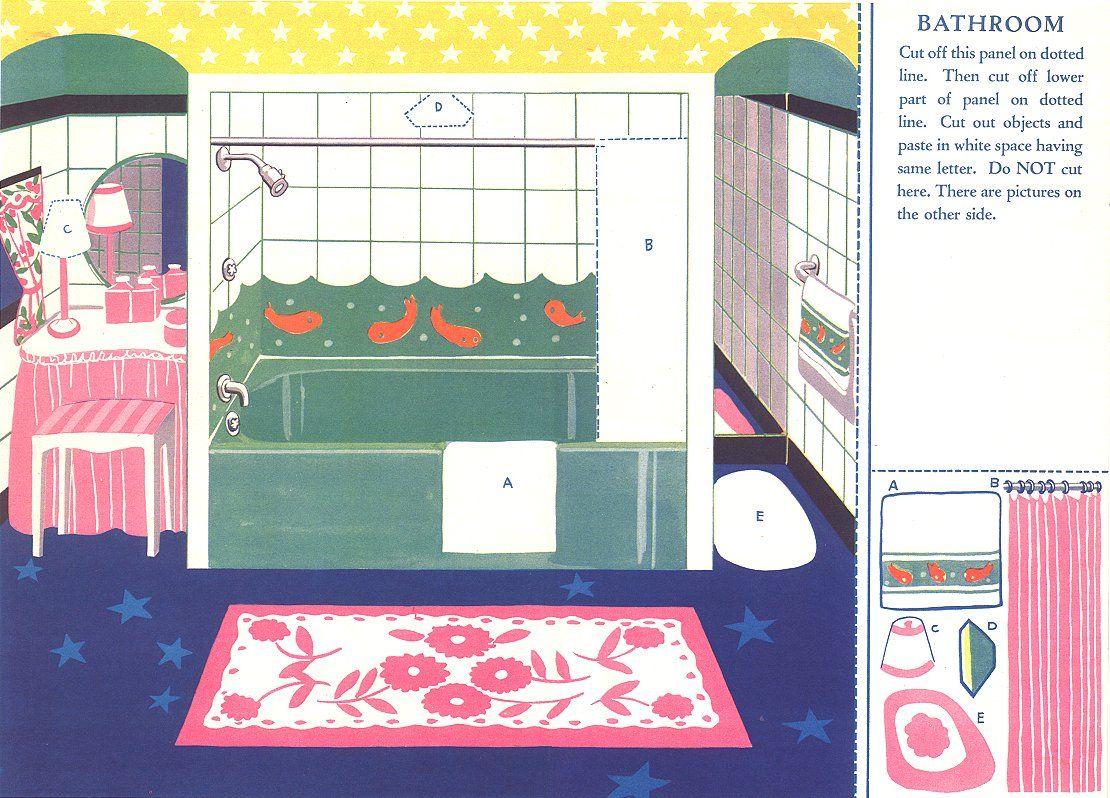 Картинки домик для бумажной куклы