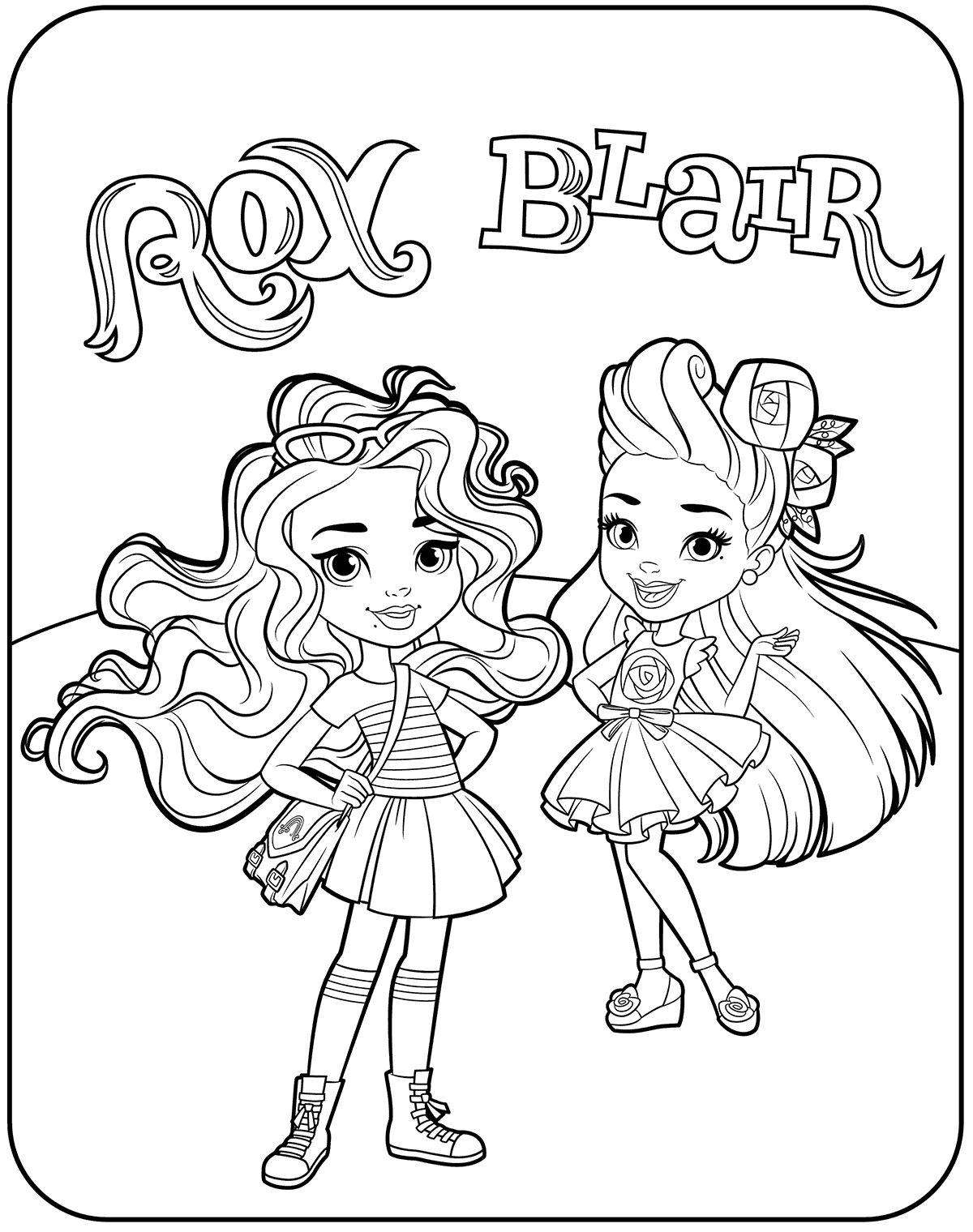 Blair And Rox From Sunny Day Coloring Pages