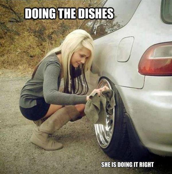 The Funny Way Dads Girls Clean Wheels Car Memes Funny Car Memes Car Jokes