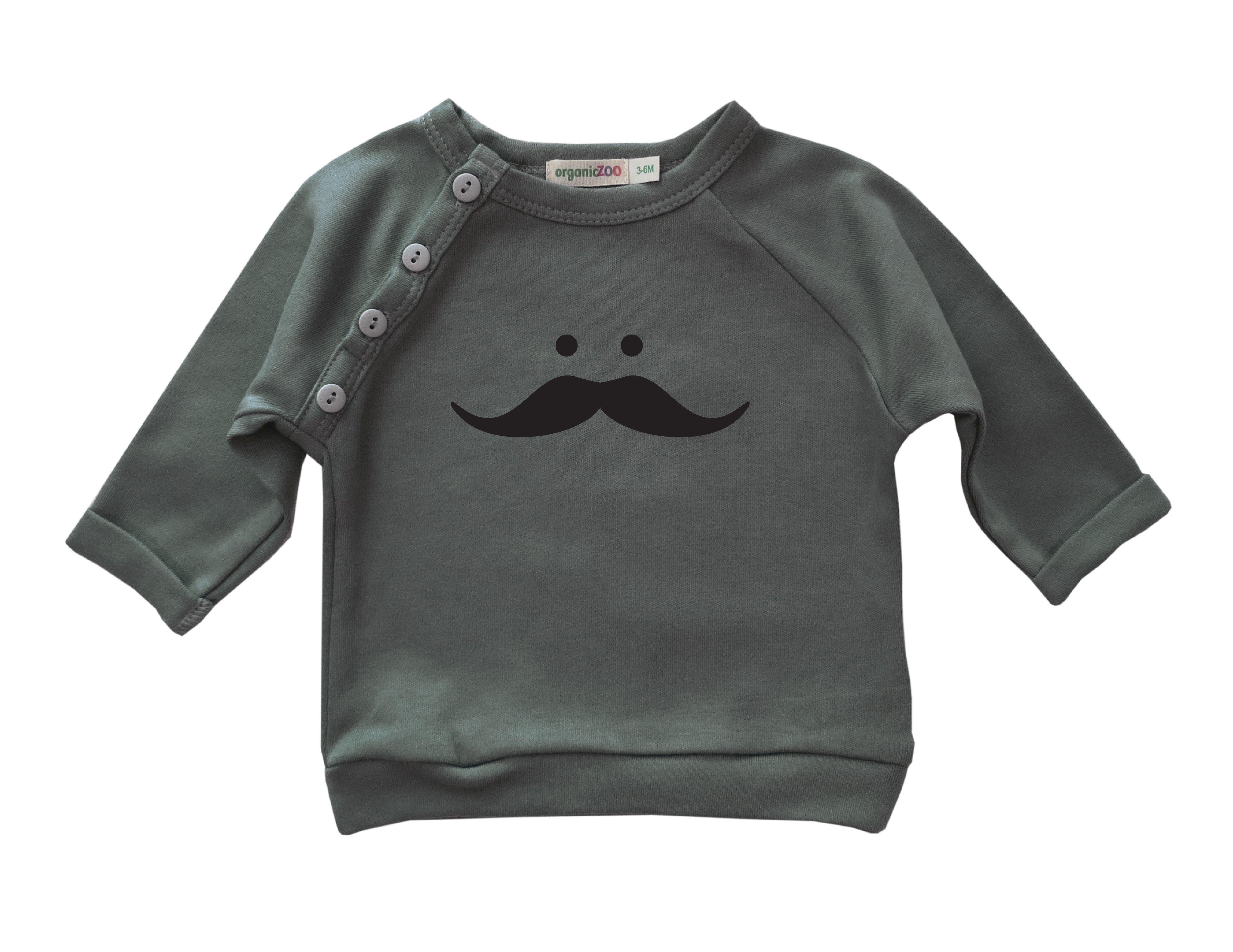 Organic Zoo | Jersey Mustache Gris | 16,13€