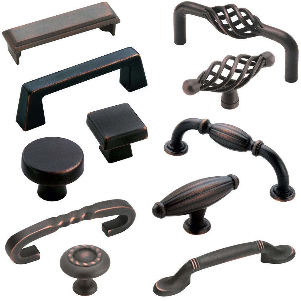 Amerock deals oil rubbed bronze cabinet hardware knobs for Small door knobs and handles