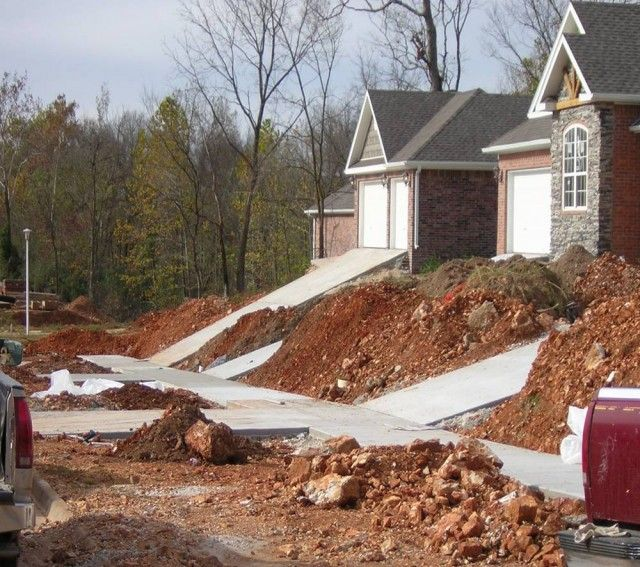 A Flat Driveway Was On Our List Of Must Haves When Buying Our House So We Didn T Even Look At Houses With Steep Driveway New House Construction House Driveway