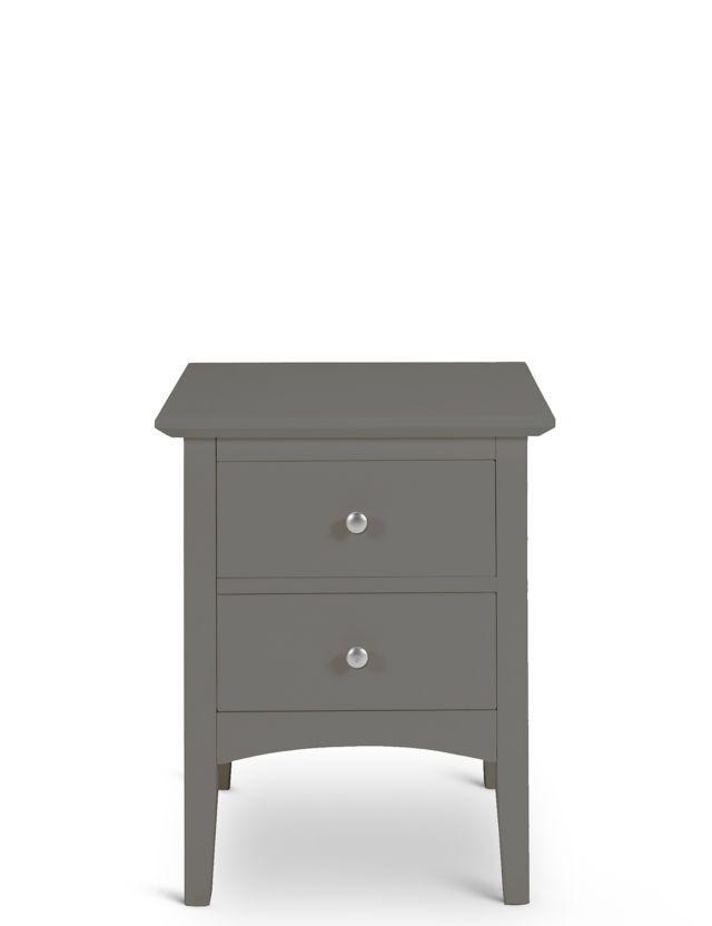 Light Grey Bedside Table: Hastings Dark Grey Bedside Table