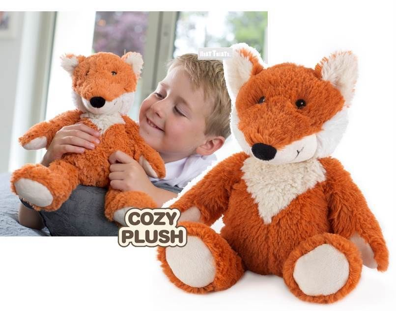 NEW Large Cozy Plush Fully Microwavable FOX: Lavender Scented Heatable FOX Toy