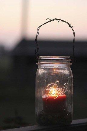 Jeff Rasche Candle In A Mason Jar Mason Jar Print Mason Jars Jar