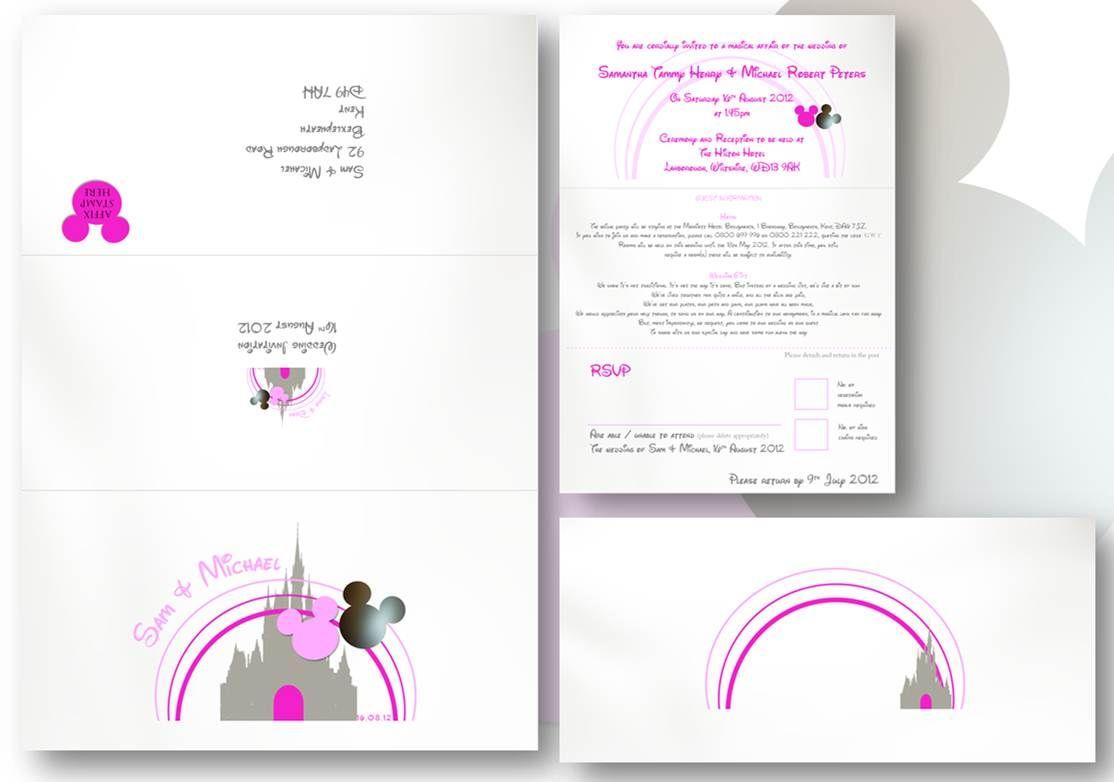 wedding invitations disney - Google Search | Wedding | Pinterest ...
