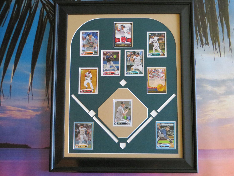 Baseball Decor Custom Gifts For Dad Baseball Field Card By Picmats