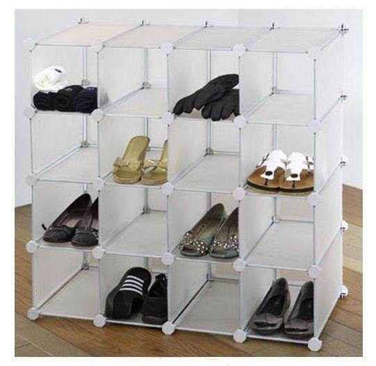 Shoe Storage Organizer Display Shelves Rack for 16 Pairs Stand Cubes Holder Box in Home, Furniture & DIY, Storage Solutions, Shoe Storage | eBay
