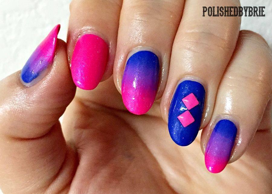 Pin By Jade Lapollo On Nails Flag Nails Bisexual Pride Pride Tattoo