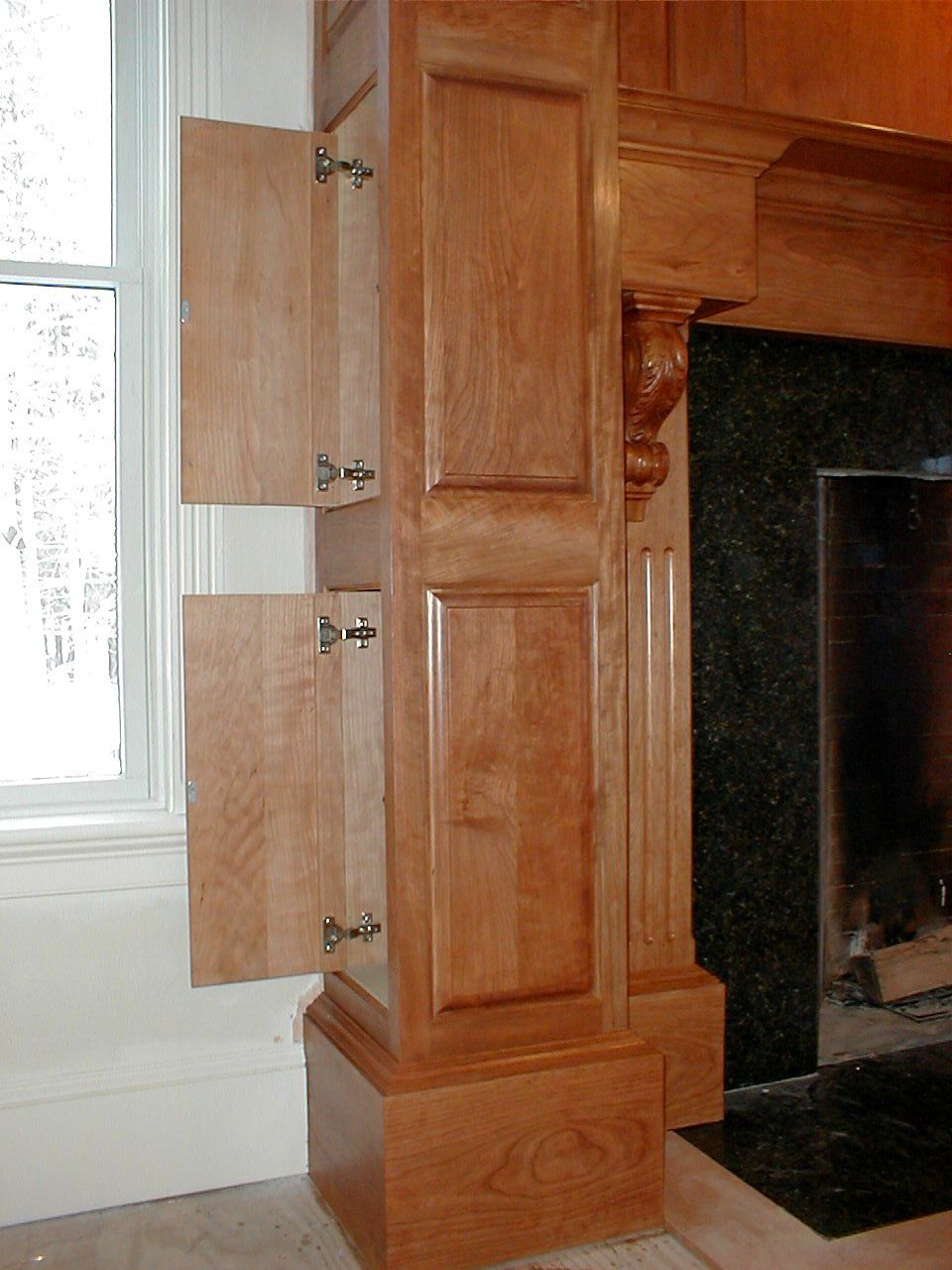 custom cherry fireplace mantle with hidden compartments s d m