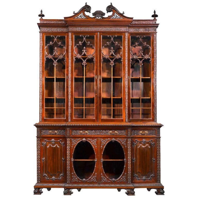 Mahogany Chippendale Style Breakfront Collection De Meubles Mettre La Table Et Mobilier De Salon