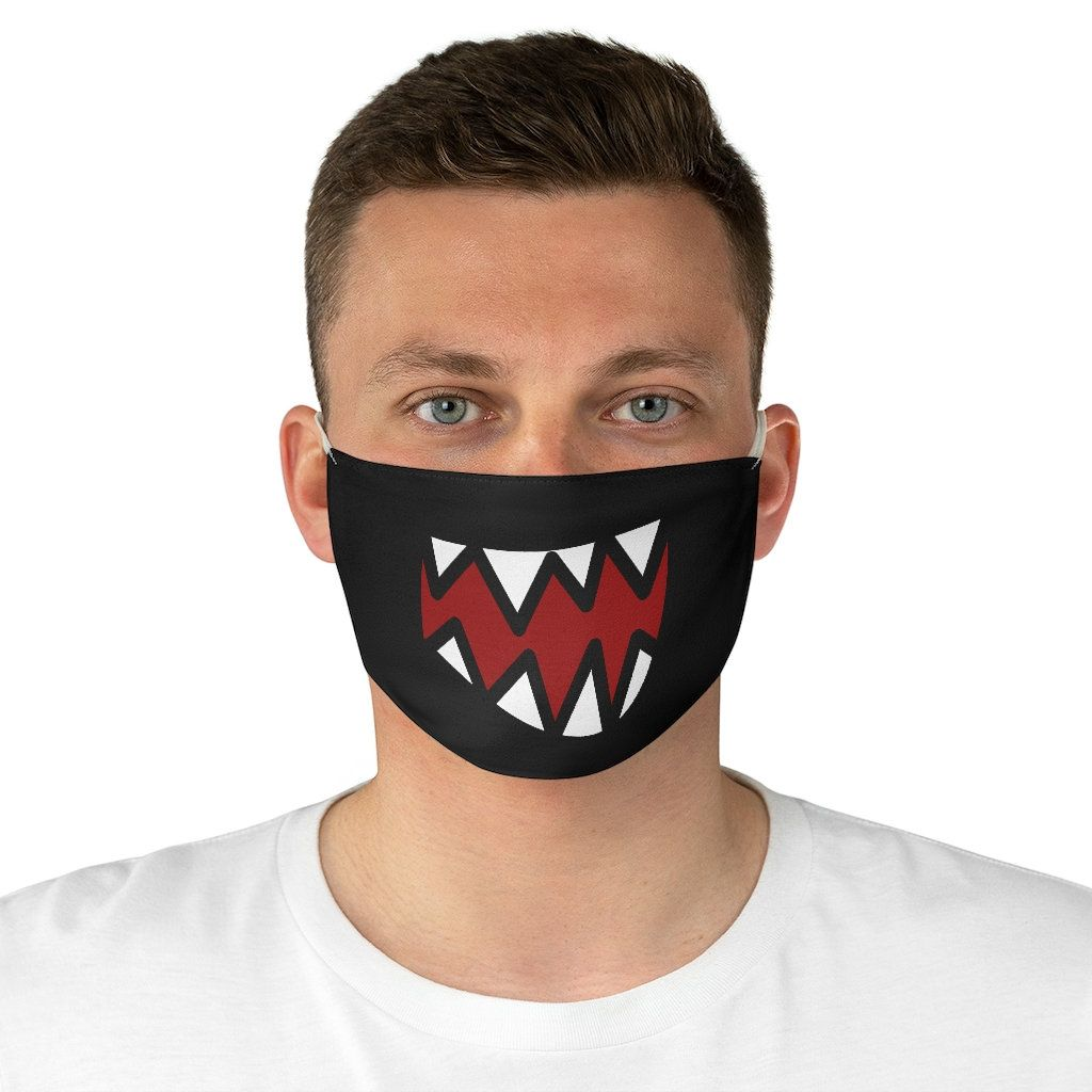 Teeth Punk Goth Teen Halloween Awesome Fabric Face Mask