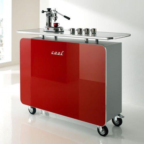 Details zu Theke Cool Bartheke Bartisch Barmöbel in rot Hochglanz - küche hochglanz oder matt