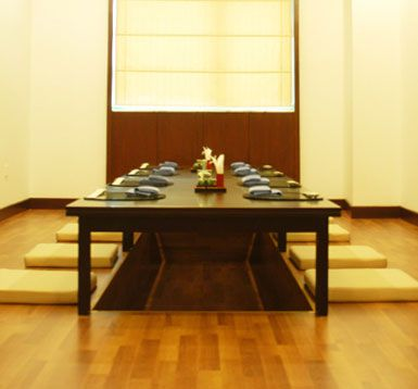The Simplicity Of The Japanese Dining Room Floor Seating