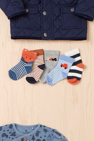 Buy Multi Car Socks Five Pack Younger Boys From The Next Uk Online
