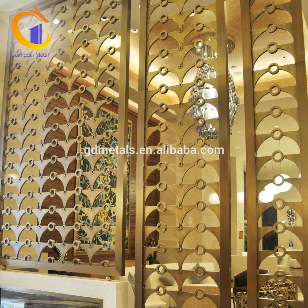 Customized Design Pattern Metal Lattice 3d Room Dividers Restaurant ...