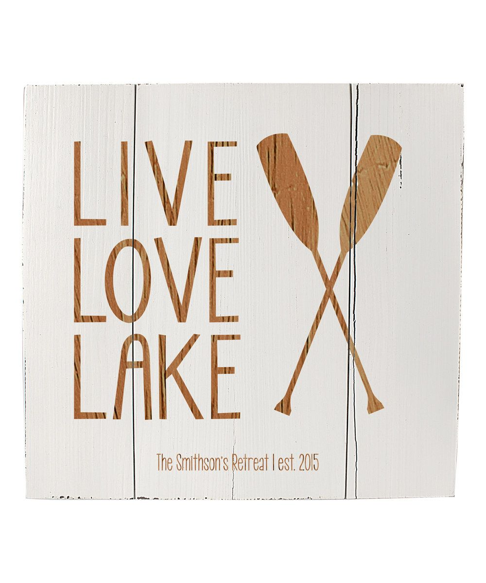 Look at this white lake house personalized wood wall art on zulily
