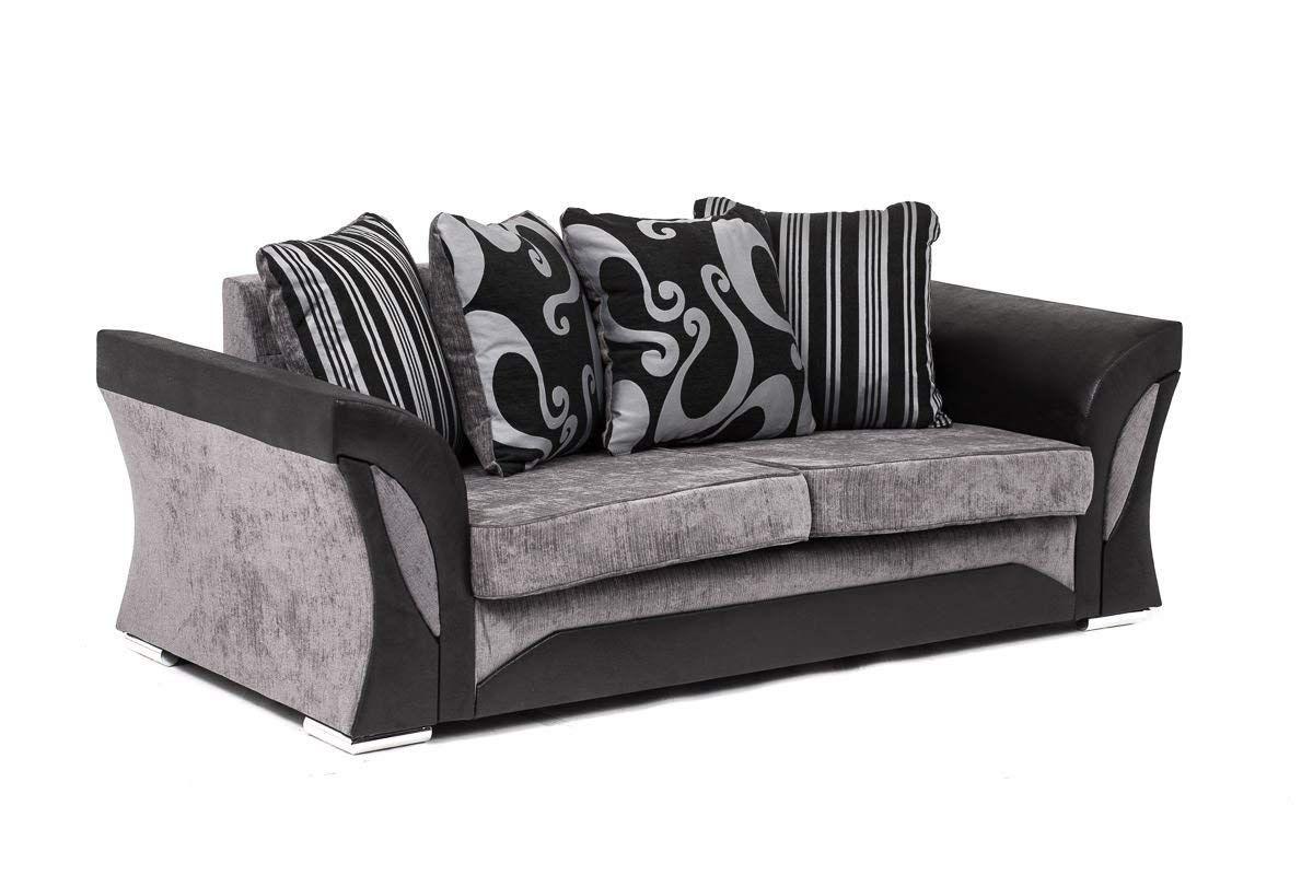 Farrow Chenille Fabric Corner Sofa 2 3 Seater Swivel Chair In