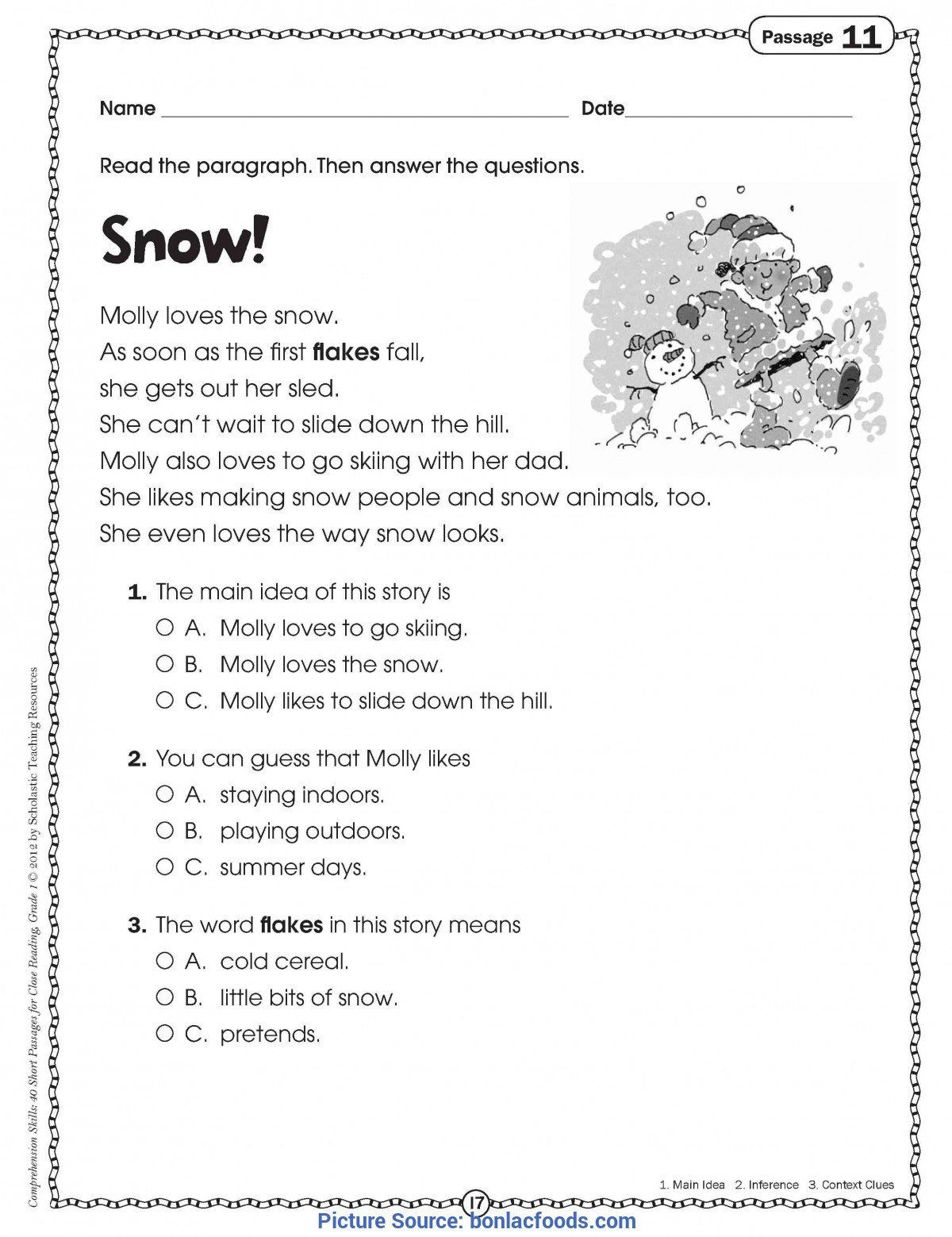 44++ Free math reading worksheets Popular