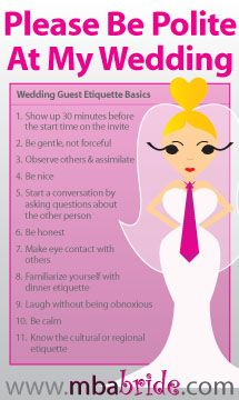 9 Simple Etiquette Rules for Wedding Guest  The MBA Bride