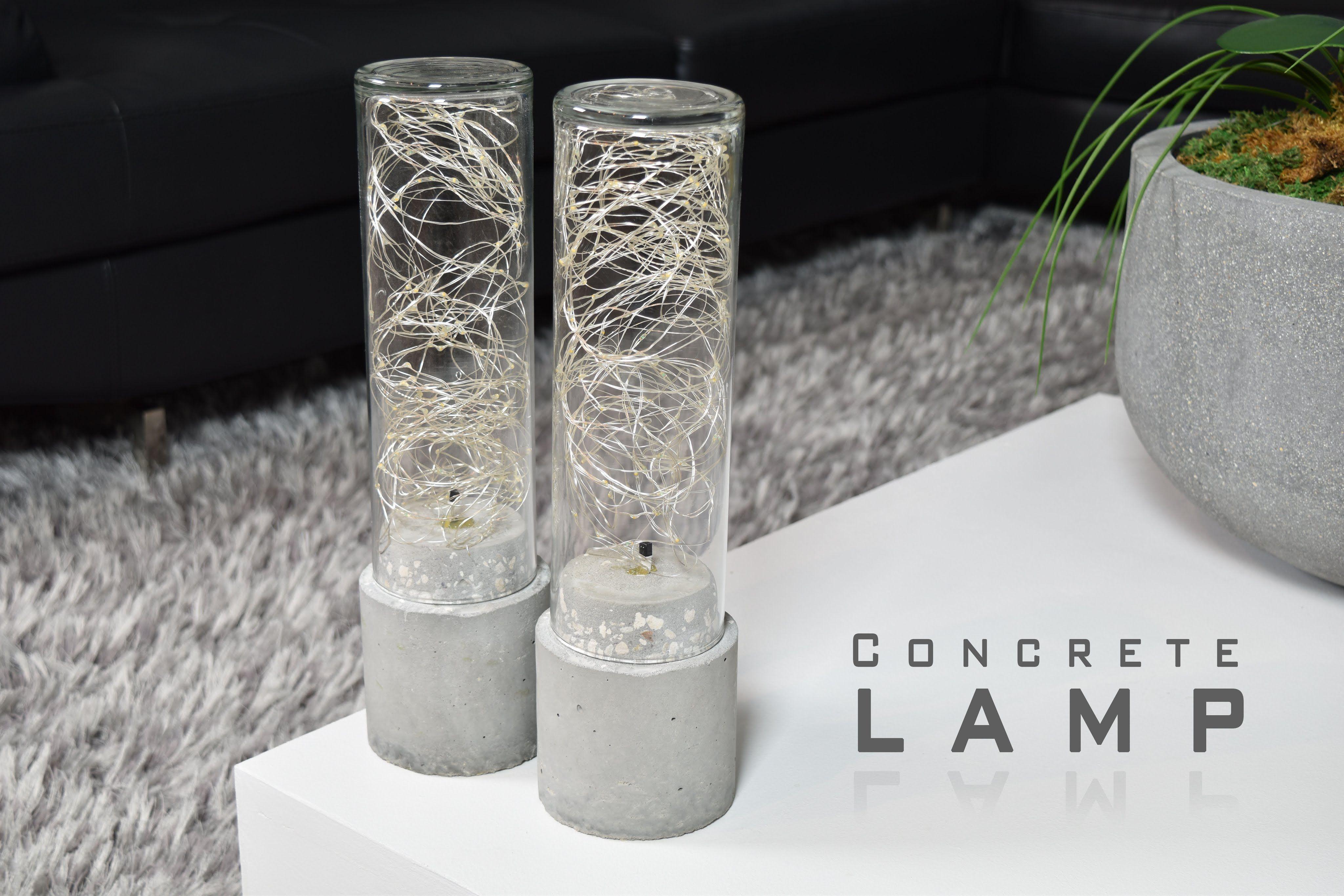 Make A Lamp Using Concrete And Led String Lights. Litom Led String Lights  Http: