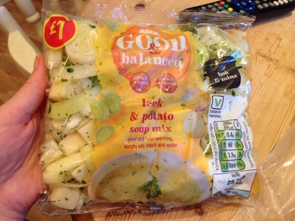 Slimming World Syn Free Asda Leek And Potato Soup Mix