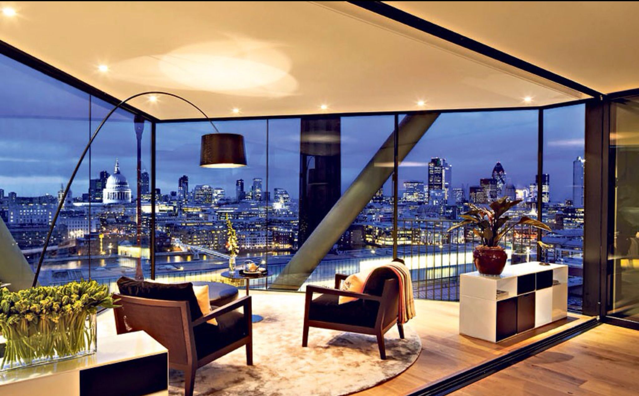 luxurious modern london bankside apartment wonderful houses pinterest raumdesign. Black Bedroom Furniture Sets. Home Design Ideas