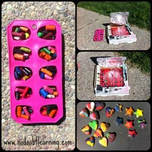 Summer Fun For Preschoolers: Pizza Box Crayons Idea