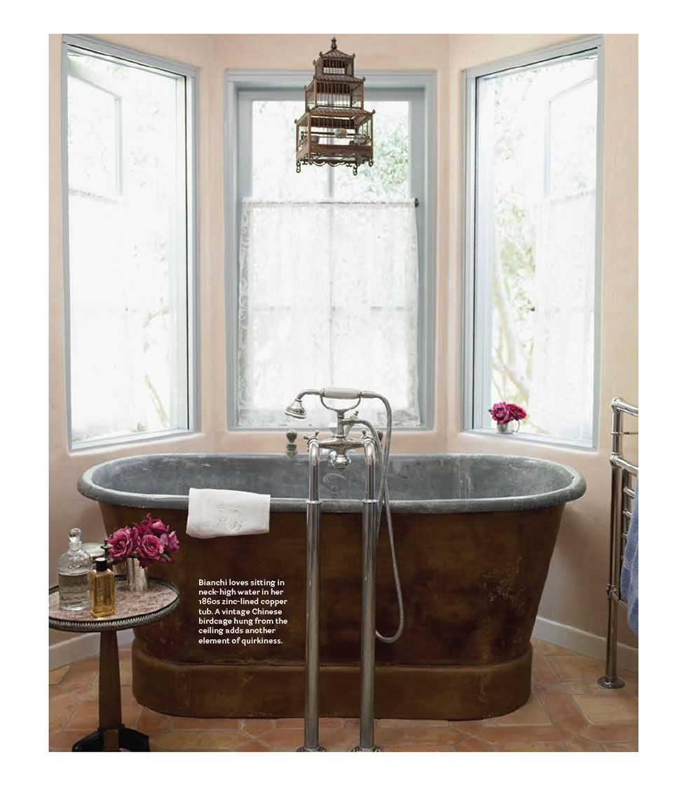 Baignoire Ancienne En Zinc 1860s French Zinc Lined Copper Tub Penelope Bianchi Features