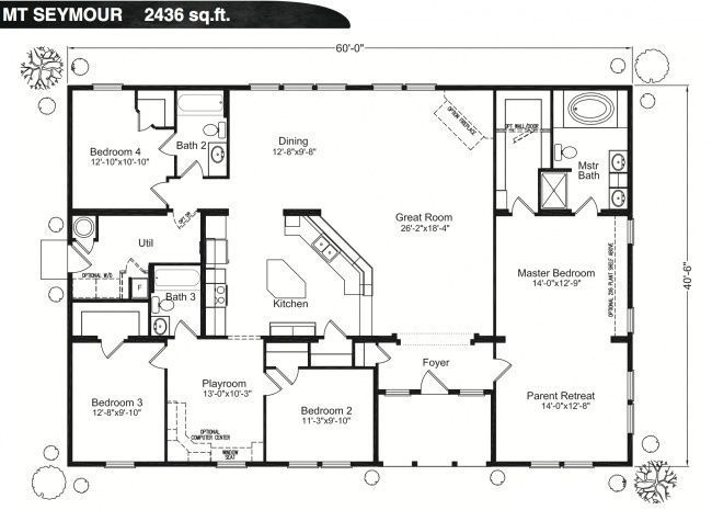 Image result for large rectangular home floor plans | Architecture ...