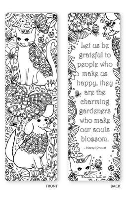 Spring Garden Coloring Bookmarks - Set of 5 | Bookmarks, Books and ...