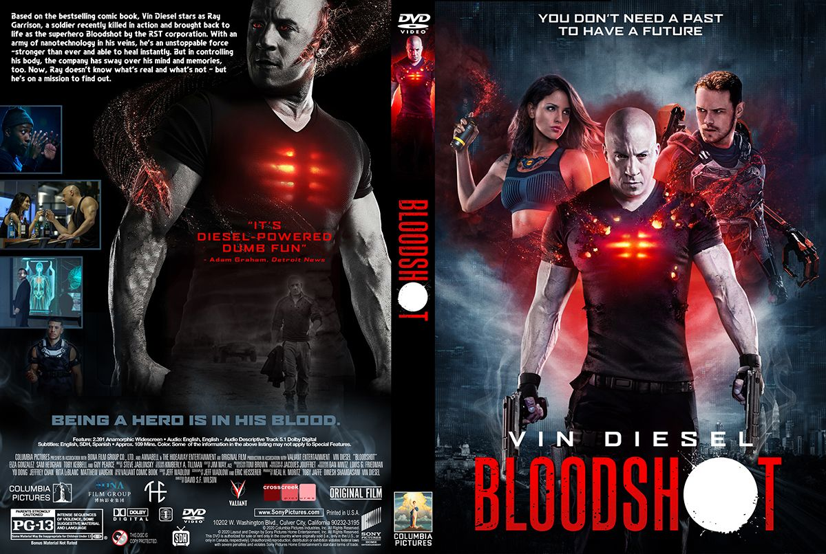 Bloodshot dvd cover dvd covers movie covers dvd