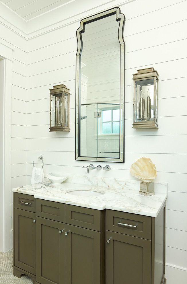 Shiplapsidingbathroomtropicalwithclassiccrownmoldingframe Simple Bathroom Crown Molding 2018